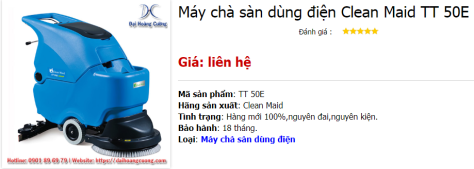 May-cha-san-dung-dien-Clean-Maid-TT-50E